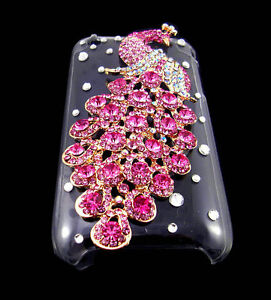 Bling-Peacock-Crystal-Diamond-Hard-Back-Case-for-Apple-iPhone-3G-3GS-PINK-PL41