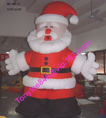 10ft tall Airblown Inflatable Santa Claus Blow Up Outdoor,UL blower include