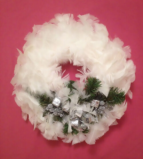 Diy feather christmas wreath ebay