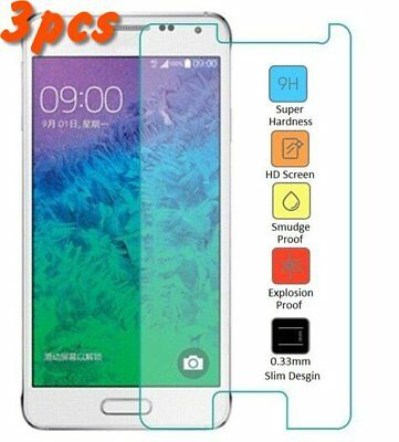 3X Samsung Galaxy Alpha G850 Premium Tempered Glass Screen Protector 9HD Clear for sale  Shipping to India