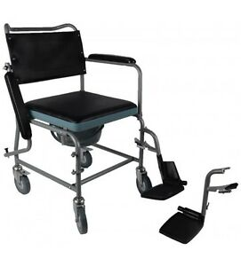 Mobile Commode, Wheelchair Bedside Toilet,  Rolling Chair, new