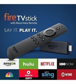 AMAZON FIRE TV STICK, 2nd Gen,Alexa, KODI 17.6, IPTV, MOVIES, TV SHOWS, LIVE SPORTS, AND MUCH MORE!