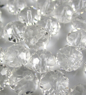 NEW Jewelry Faceted 100 pcs Clear #5040 3x4mm Roundelle Crystal Beads DIY AD2