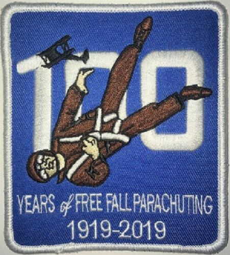 Parachute, Skydiving/skydiver patch 100th Anniversary of Freefall Parachuting