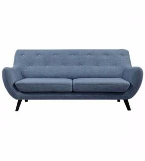 2 Seater Fabric Sixty Sofa⁄Light Blue⁄Discounted Price Offer Reservoir Darebin Area Preview