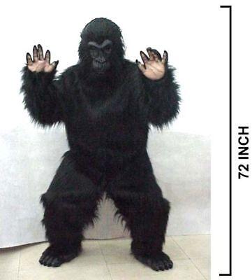 ADULT PROFESSIONAL PLUSH GORILLA COSTUME monkey suit adult size mens womens new](Professional Gorilla Suit)