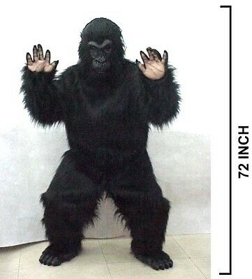 NEW PROFESSIONAL GORILLA COSTUME adult monkey suit ape gorrilla dress up outfit - Costume Suits