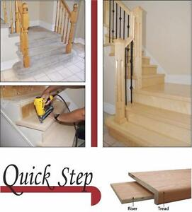 "Quick Step - INDOOR STAIR TREADS & RISERS KIT - 36 & 42"" in Oak & Maple"