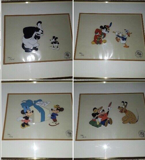 "Walt Disney ""Mickey Mouse Portfolio"" Limited Edition Production Cels Set of 4"
