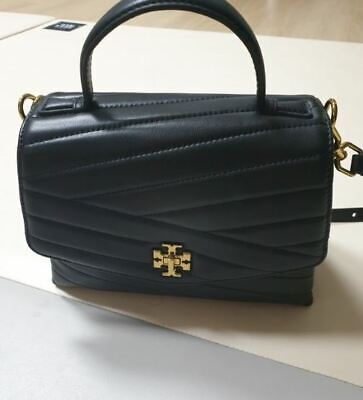Tory burch Kira Chevron Top-Handle Satchel Bag [Black] 61674 Tracking Number