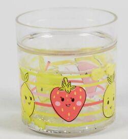 Glitter Fruit Tumbler (10cm x 9cm)