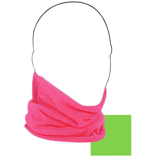 Zan Headgear Reversible Neck Gaiter - Pink