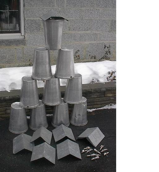10 MAPLE SYRUP Sap BUCKETS + POINTED Lids Covers + Taps Spouts Spiles