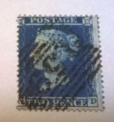 GB SC 15 * SG 27 QV WMK 20 * Lge Crown  * Perf 16 * 2d Blue 1855 Scarce Nice Lot