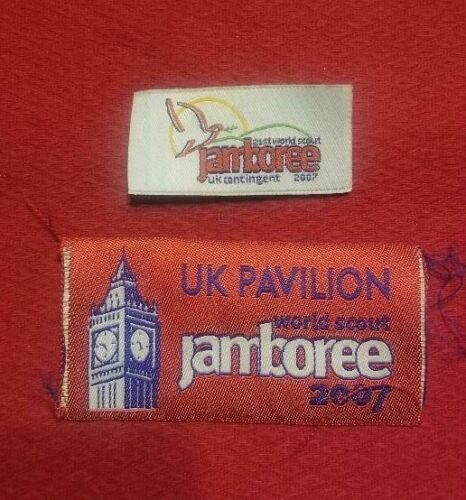 2007 Great Britain Great Pavilion + Small UK Contingent Patches World Jamboree