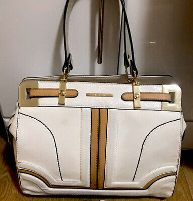 River Island White Gold Tote Bag RRP £42
