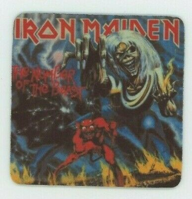 Number Beast Cover (Iron Maiden Record Album Cover Beverage COASTER - The Number of the Beast )