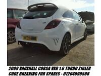 2009 VAUXHALL CORSA VXR 1.6 TURBO Z16LER BREAKING SPARES PARTS WHITE ENGINE