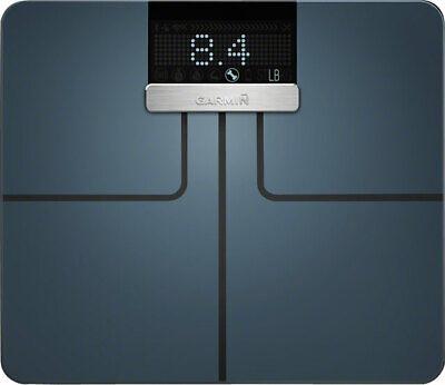 NEW Garmin Index Smart Scale Black Wi-Fi Bluetooth BMI & Muscle Mass Tracking