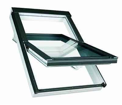 Kunststoff Dachfenster TLP 55x78 von FAKRO + Eindeckrahmen