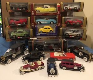 15 DIE CAST COLLECTIBLE CARS ALL TYPES  ( REDUCED PRICES )