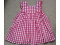 Mini Boden pink and white dress age 4-5 years