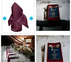Burgundy or Wine Coloured Napkins Landsdale Wanneroo Area Preview