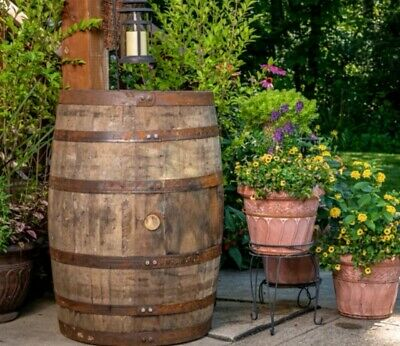WHISKEY BARREL Scottish OAK Wood Ideal Garden Feature Many In Stock Planters