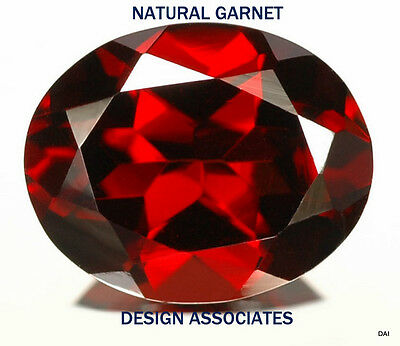 GARNET RED 10X8 MM OVAL 2 PC SET FOR $9.99