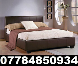 BED BRAND NEW DOUBLE LEATHER BED AND MATTRESS 2
