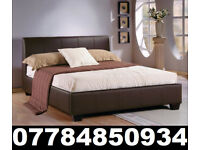 BED BRAND NEW DOUBLE LEATHER BED AND MATTRESS 539