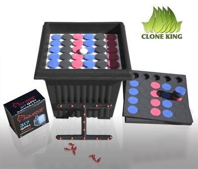 CLONE KING 36 SITE CLONER CLONING MACHINE 75 INSERTS 25 BLACK 25 BLUE 25 RED