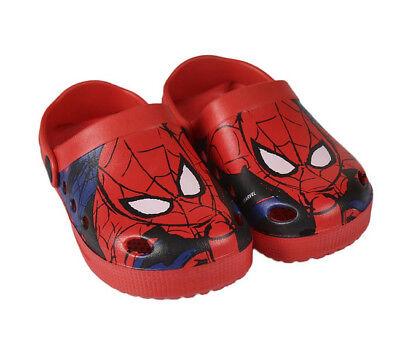 DISNEY Kinder Spiderman Premium Clogs  - Hausschuhe - Garten Schuhe - 25-31 NEU