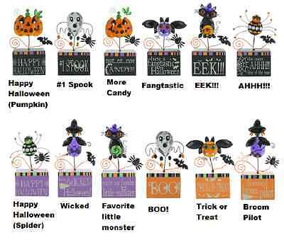 Ganz Single Halloween Message Block, Choose Your Style (HALL-5) - Halloween Ganz