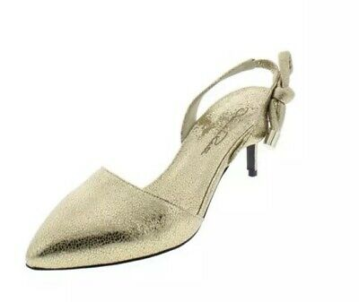 Oscar de la Renta New Cora Knot Gold Slingback Heels