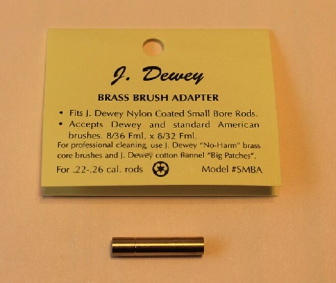 Lot of 2 Dewey Rod and Brush Thread Adapters for 22 thru 26 caliber Dewey Rods