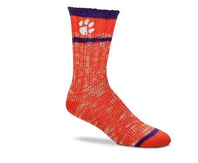 Crew Football Sweater - Clemson Tigers Football Alpine Crew Sweater Socks