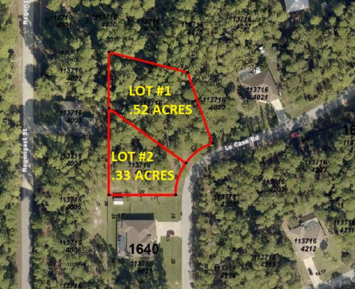 2 Residential lots near private golf course in North Port, .85 ACRES