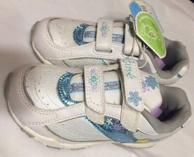 Disney Tinker Bell Shoes for Little Girls Size 2 Running Shoes w/Toy Lip Gloss  - White Shoes For Little Girls