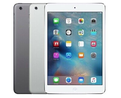 "Apple iPad Mini 2 7.9"" Retina Display 16GB 32GB 64GB, WiFi, Gray Silver (R-D)"