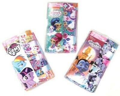 My Little Pony Shimmer Shine or Vampirina Toddler Girls 7 Pc Panty   2T/3T ot 4T