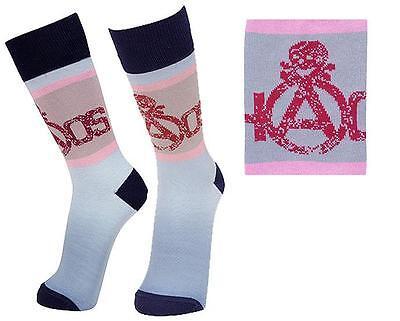 Vivienne Westwood Man Made in Japan Ltd CHAOS & Skull Socks-Navy