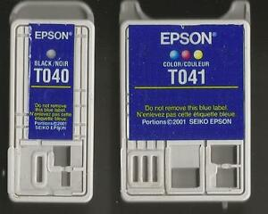 EPSON Printer Cartridges : One BLACK and One COLOR ( N E W )