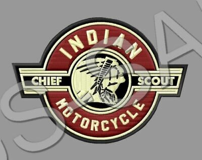 Indian Motorcycle Chief Scout Patch Bobber Sixty V2 Vintage Classic Dark Horse#2