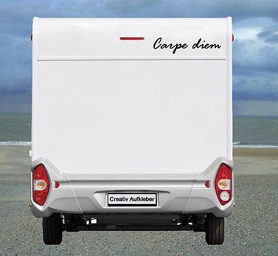 Carpe diem  (dt. Genieße den Tag) Aufkleber  Wohnmobil Wohnwagen