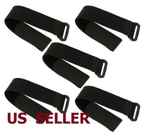 US SHIP 5 PCS Hook Loop Tape Strap Self Adhesive for Lipo Battery RC Helicopter