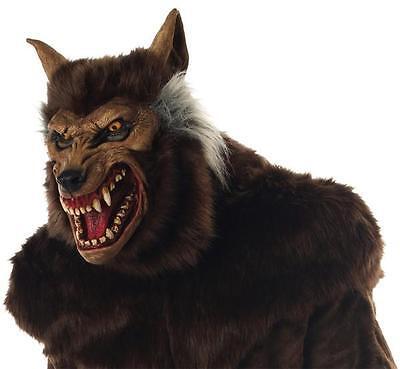 Erwachsene Gemein Tier Werwolf Haarig Deluxe Maske Kostüm (Deluxe Werwolf Kostüme)