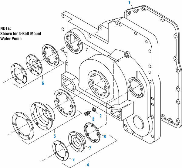 Front Crankshaft Seal Kit for a Cummins L10 M11 ISM. PAI