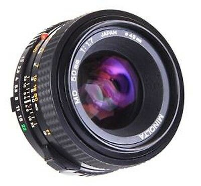 Minolta MD F/1.7 50mm Lens X700 X570 X370 XD XGM XG-1 XG9 XG1 SRT XE