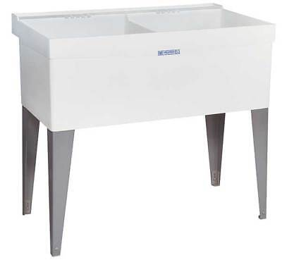 "Mustee Laundry Tub, Chalk-white, Base Mount Basin Measure assess 24"" x 20"", 27F"